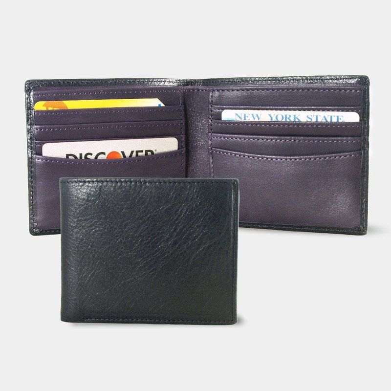 Influxx Montage Leather Bi-fold Compact Wallet - Purple Reign