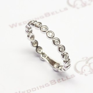 18K white gold / Round Diamond Ring (Free Shipping)
