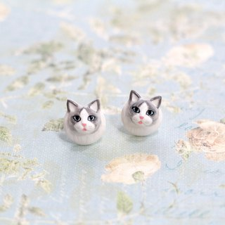 Ragdoll cat earrings, Cat stud earrings, cat lover gifts