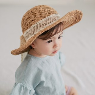 Happy Prince Torchon Lace Ribbon Baby Girl Sun Hat