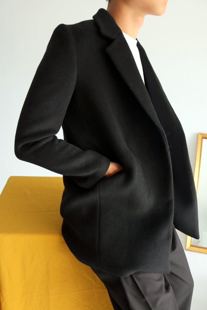 Reseau Coat tailor-made alpaca suit jacket (gray map can also be customized other colors)