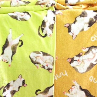 Cat Blanket/ Kitty print double sided flannel throw blanket/baby shawl