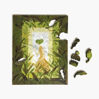 120P wooden puzzle_green tea