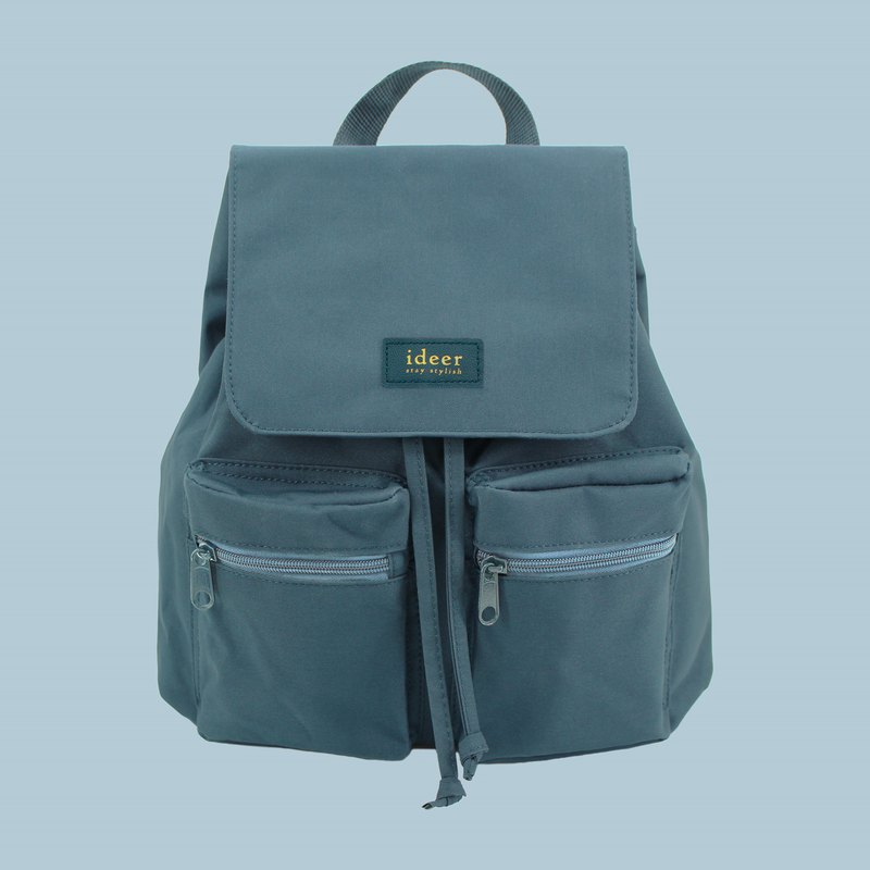 防潑水湖水藍湖水綠尼龍超輕背包 後背包 電腦包 旅行 書包