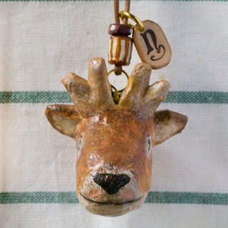 Small deer pendant necklace / animal item 錬