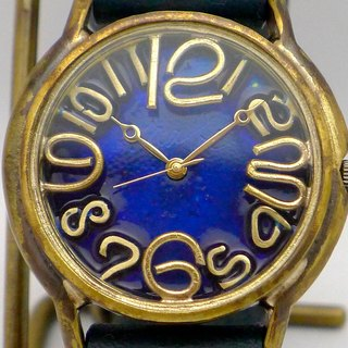 "手作り時計 Hand Craft Watch Coler Dial ""J.B.2"" JUMBO Brass カラーダイアル BL/NV [JUM31B BL/NV]"