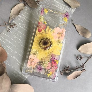 Sun flower dry flower phone case