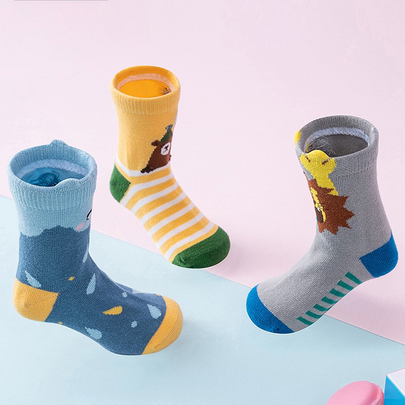 Korea lemonkid cute children's socks-cool animals (a set of 3)