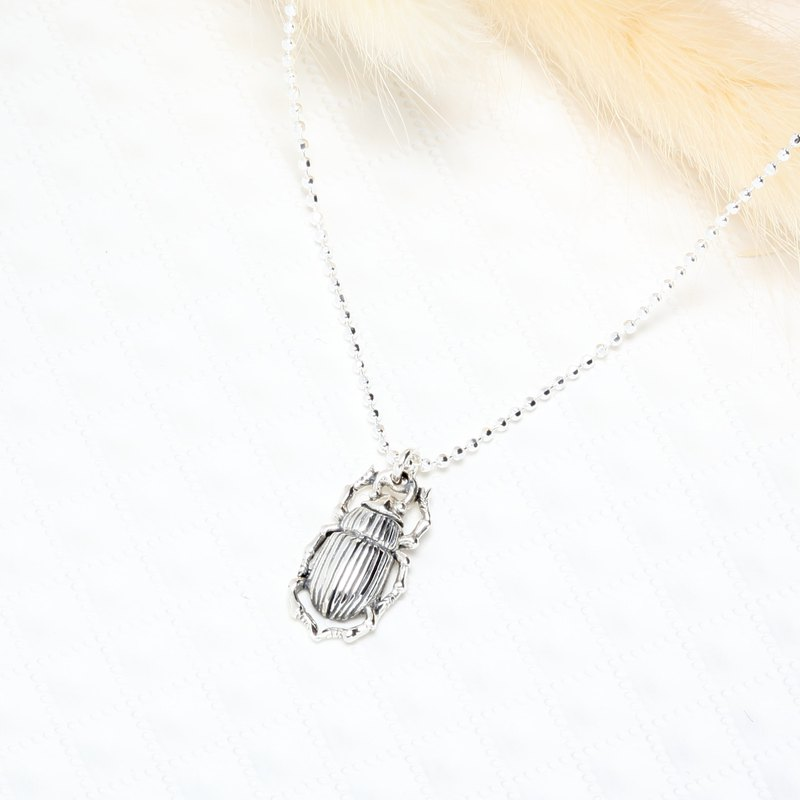 Cute guardian scarab s925 sterling silver necklace Valentines Day gift
