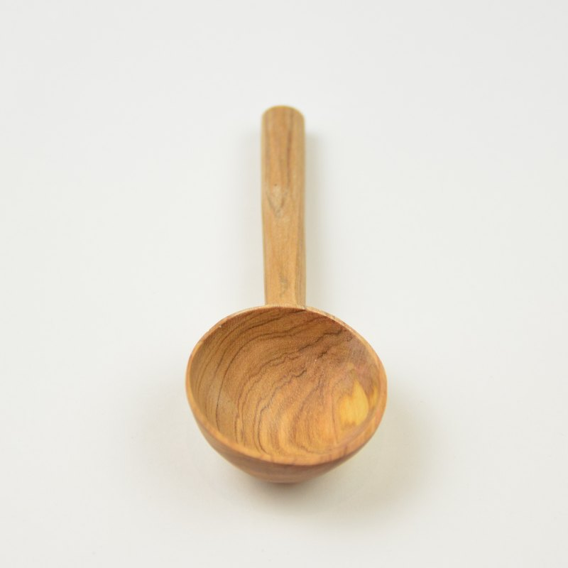 Olive coffee spoon _ fair trade