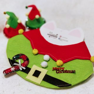 Christmas elf pet scarf / neckband Christmas neck wear collar