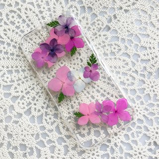 iPhone 7 Handmade Pressed Flowers Case Purple Flower case 017