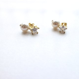 Little princess- Brass zircon earrings