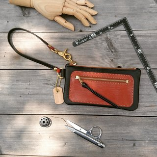 <隆鞄工坊> Clutch bag/Mobile phone bag/(Brown)
