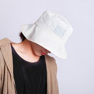 Deaf hand-threaded summer and summer Japanese cotton monochrome basin hat fisherman hat flat cloth cap travel shade literary leisure