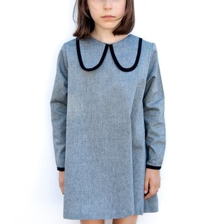 ear dog collar dress - gray