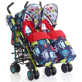 British Cosatto Supa Dupa Double Stroller - Cuddle Monster 2
