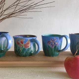 Sky & Flower Series Coffee Cup Gift Box (Set of 4 in) _ Pottery Mug