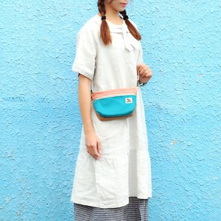Maverick Village handmade small side backpack cloth bag Japanese [mini cross-body bag - 恬静午茶] SH-06