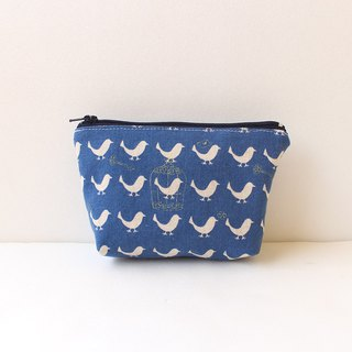 Silhouette bird storage bag / sundries bag purse hygiene cotton bag