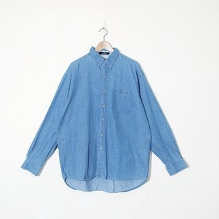 {::: Giraffe giraffe :::} _ inside stitching stripes wide version of ancient version of the basic models denim shirt