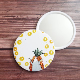Mstandforc x dodolulu Customized Small Round Mirror | Fruit Series | Pineapple