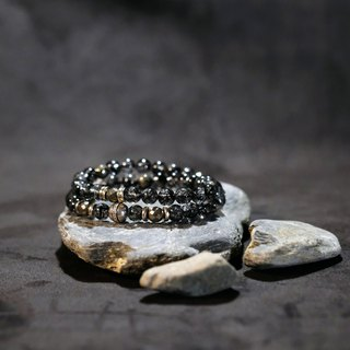 Hanhan Jewelry dark, power bracelet selected dark hair crystal pyrite 925 silver limited