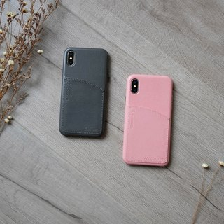 〖Add-on〗iPhone X Customise service-POSH | Faux Leather Hard Case with Pocket (not including case costs)