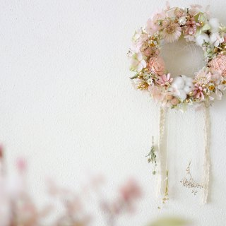 Dream catcher - elegant pink gold / Valentine's Day / birthday / graduation / Christmas exclusive flower ceremony
