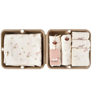 [SISSO Organic Cotton] Send you a small flower Shu cotton gauze seven-piece gift box 3M