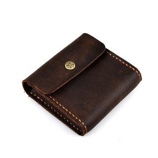 【U6.JP6 handmade leather goods】 - Handmade leather sewing simple wallet / name card package / kits (men and women apply)