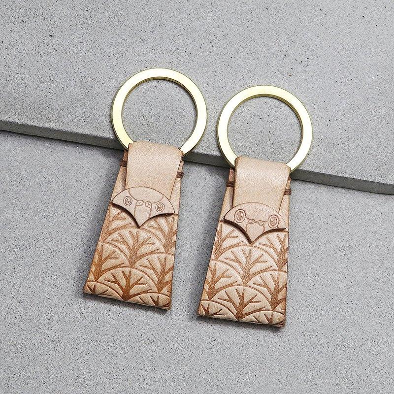 在森林裡的鸚鵡 ∣ 亞馬遜/凱克 ‧ 原色皮革鑰匙圈