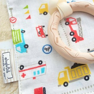 Baby Teething Blanket, Rattle Teether, Wooden Toy, Japanese Cotton, Cars. Boy