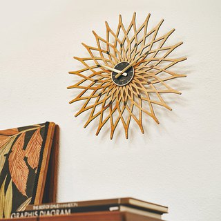 Noel- geometric flower mute clock wall clock