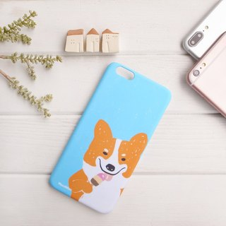 Corgi eating ice cream phone case
