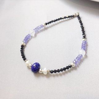 MH Sterling silver natural stone custom series _ Neptune Quest _ Lapis