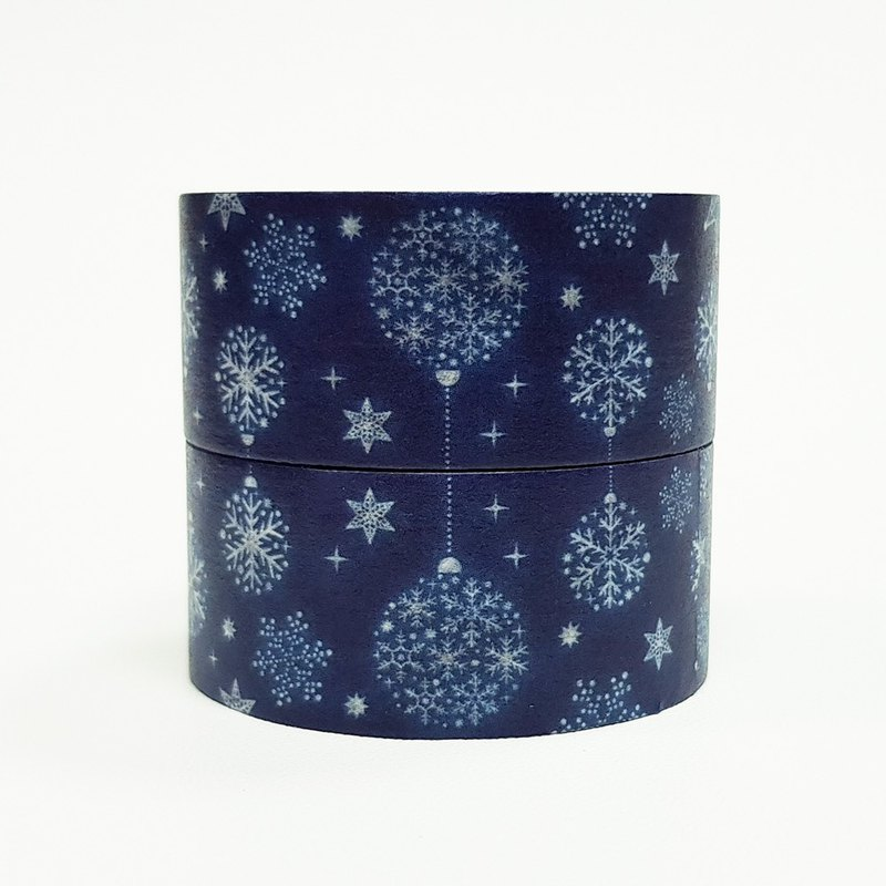 mt Masking Tape Christmas 2018【2 rolls - Blue Ornaments (MTCMAS97)】