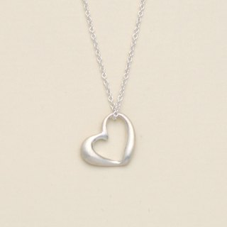 Slant Heart Necklace