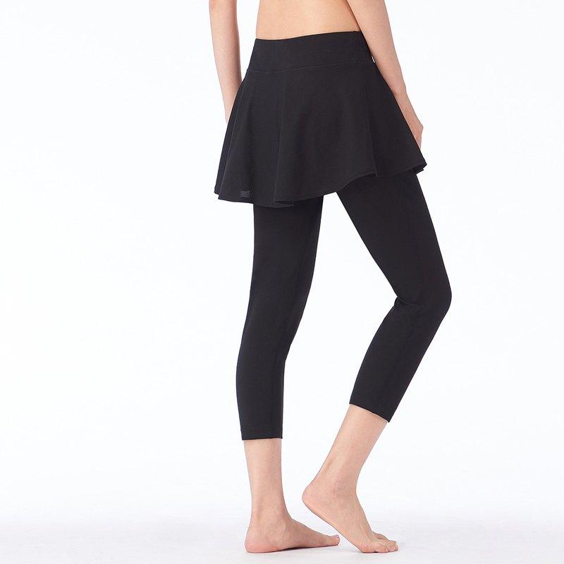 【MACACA】自然對流涼膚裙片七分褲- ASG6381 黑