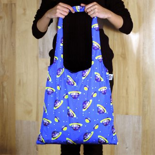Dustykid foldable totebag with draw string pouch