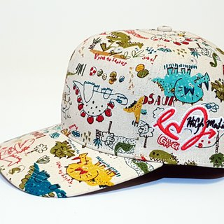 Follow Your Love Printed Baseball Cap Doodle Dinosaur #Valentine #礼物#遮阳