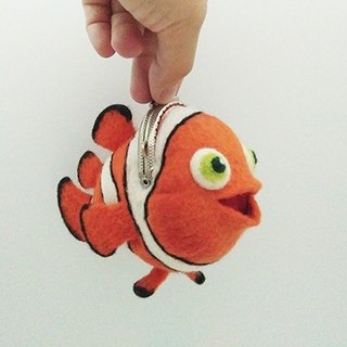 Wool Felt Animal Mouth Gold Ocean Series - Clownfish Taiwan Made Limited Manual