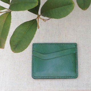 Charlotte's Leather Card Holder ID Set // Forest Green