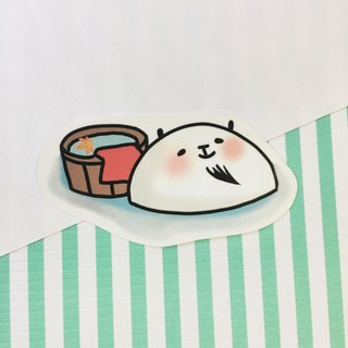 Xiongye waterproof stickers (white) Hot spring section
