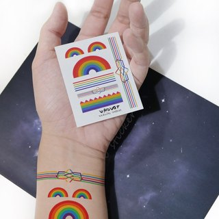TU Tattoo Sticker- Mini Rainbow / Tattoo / waterproof Tattoo / original / Tattoo Sticker