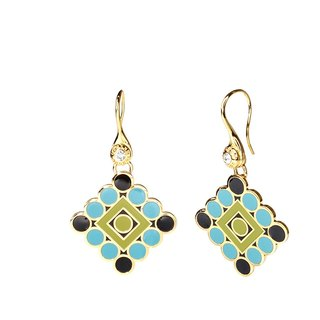 The Phantom of the Opera on Broadway Cloisonne Earrings (gold) -18,108,151,106