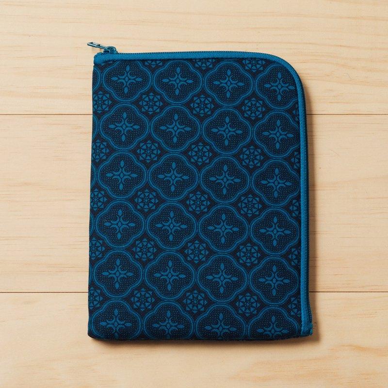 iPad Mini收納包/玻璃海棠/宅邸深藍