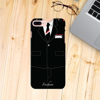 Japan Airlines JAL Air Steward Fight Attendant Purser Black iPhone Samsung Case