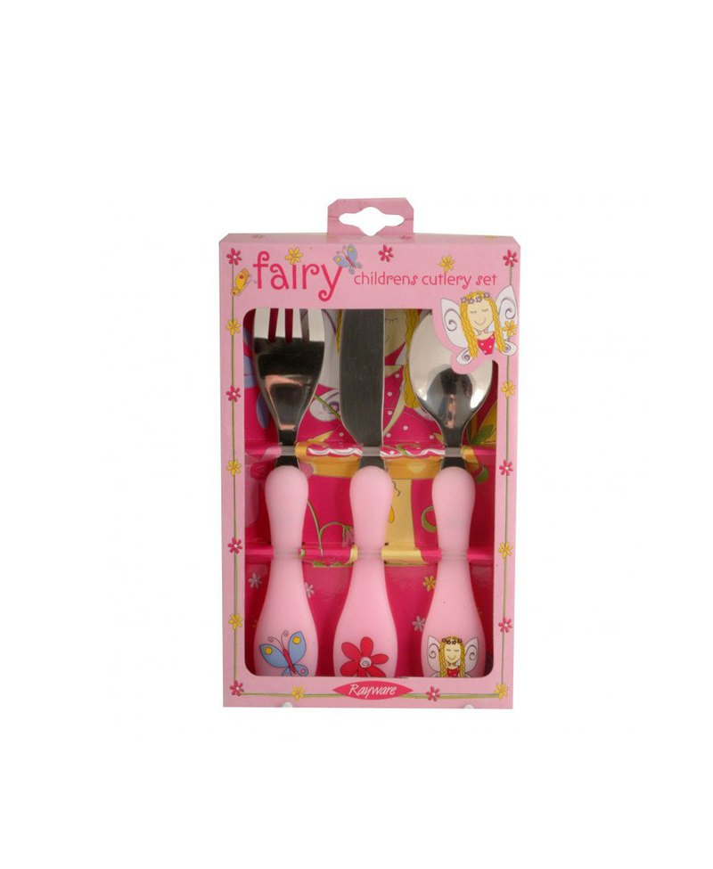 British Rayware cute flower fairy pattern child safety stainless steel cutlery spoon tableware set