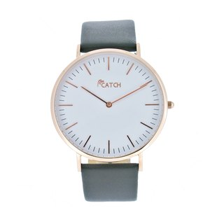 Simple stainless steel rose gold watch